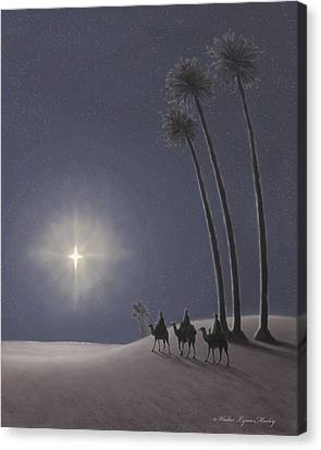The Three Wise Men Canvas Print by Walter Lynn Mosley