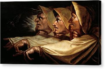 The Three Witches Canvas Print by Johann Heinrich Fussli