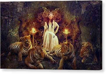The Tiger Temple Canvas Print by Cassiopeia Art