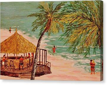 The Tiki Bar Is Open Canvas Print