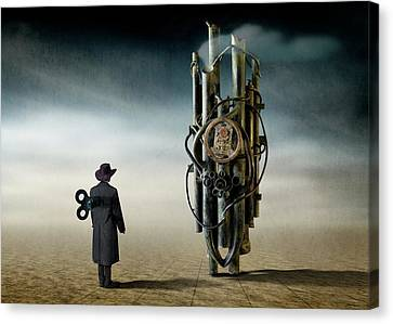 Doll Canvas Print - The Time Controler by Ben Goossens