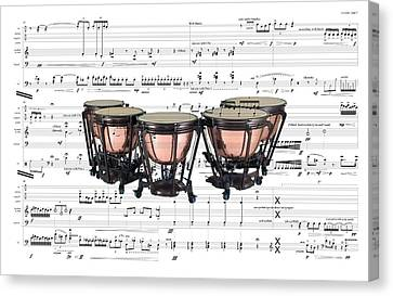 The Timpani Canvas Print