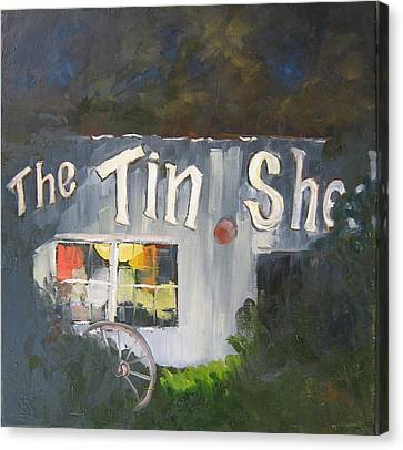 The Tin Shed Canvas Print by Susan Richardson