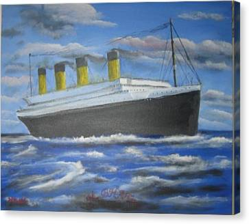 The Titanic Canvas Print by M Bhatt