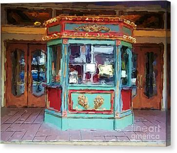 Canvas Print featuring the photograph The Tivoli Theatre by Kelly Awad