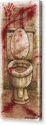 The Toilet 2011 Canvas Print by David Shumate