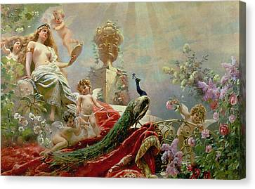 Goddess Venus Canvas Print - The Toilet Of Venus by KE Makovsky