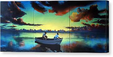 The Tom Benton Fising Fleet Canvas Print by Geoff Greene