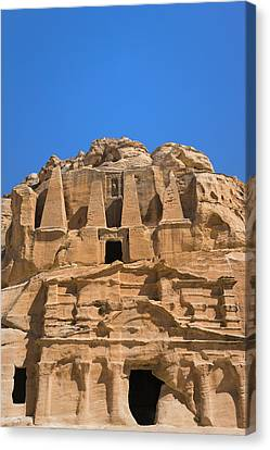 The Tomb Of Obelisks, Petra, Jordan Canvas Print by Keren Su