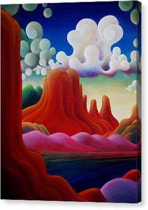 Canvas Print featuring the painting The Tomb_lake Powell II by Richard Dennis