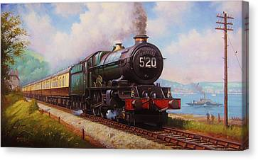 The Torbay Express. Canvas Print by Mike  Jeffries