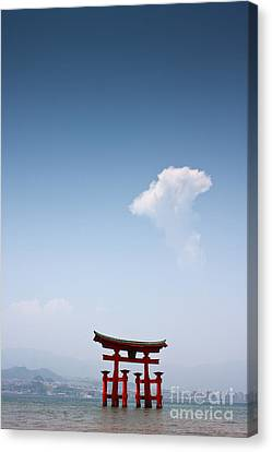 Floating Torii Canvas Print - The Torii At Noon  by Samantha Frey