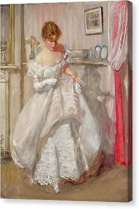 Debutante Canvas Print - The Torn Gown by Henry Tonks