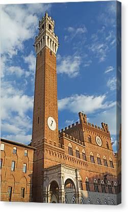 The Torre Del Mangia In Siena  Canvas Print by Jaroslav Frank