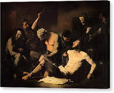 The Torture Of Alonso Cano 1601-67 C.1867 Oil On Canvas Canvas Print by Auguste Theodule Ribot