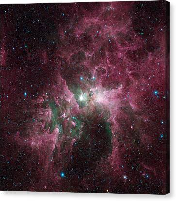 The Tortured Clouds Of Eta Carinae Canvas Print by Space Art Pictures