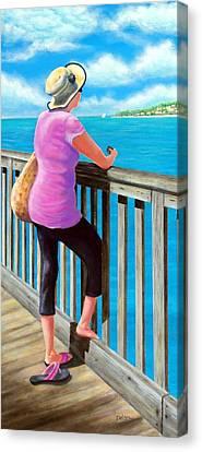 The Tourist Canvas Print by Susan DeLain