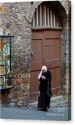 Canvas Print featuring the photograph The Tourist by Theresa Ramos-DuVon