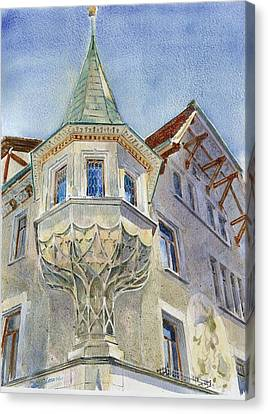 The Tower At Conditorei Central Canvas Print by David Gilmore