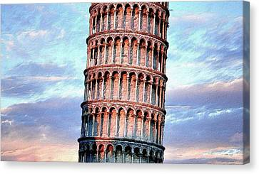 The Tower Of Pisa Canvas Print