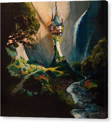 Rapunzel Canvas Print - The Tower by Tim Loughner