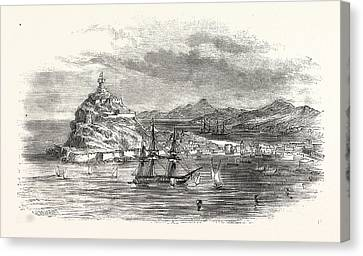 The Town And Harbour, Of Ceuta Canvas Print