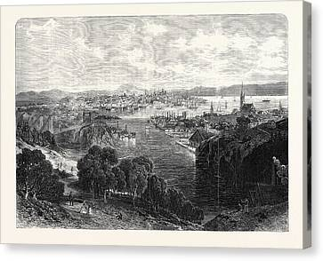 The Town And Harbour Of St Canvas Print