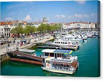 The Town And Port Of La Rochelle Canvas Print