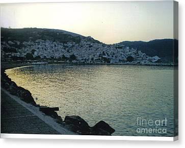 The Town Of Skopelos Canvas Print by Katerina Kostaki