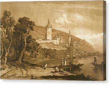 The Town Of Thun Canvas Print by Joseph Mallord William Turner