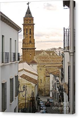 The Town Tower Canvas Print by Suzanne Oesterling