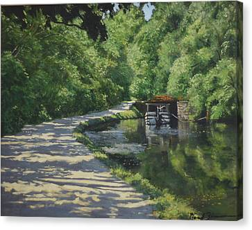 The Towpath Canvas Print by David Zimmerman