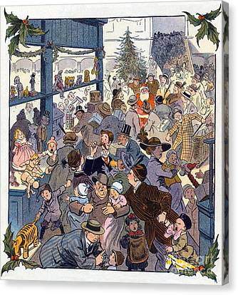 The Toy Department Puck Magazine 1913 Canvas Print