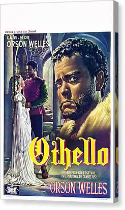 1950s Poster Art Canvas Print - The Tragedy Of Othello The Moor Of by Everett