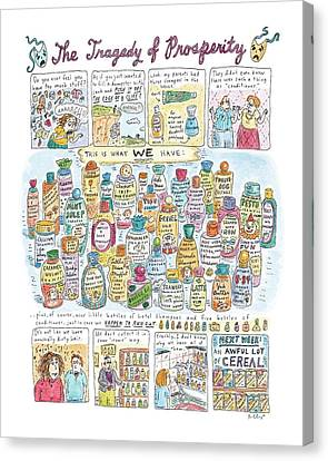 Yak Canvas Print - 'the Tragedy Of Prosperity' by Roz Chast