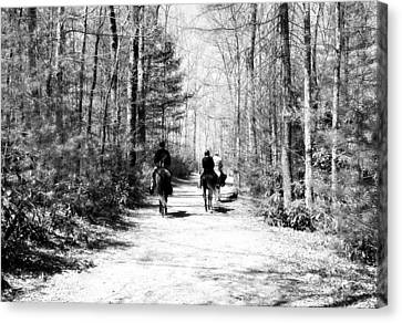 The Trail Ride Canvas Print by Susan Leggett