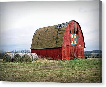The Trails Quilt Barn Canvas Print