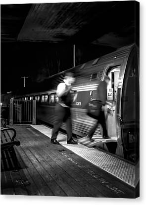 The Train Conductor Canvas Print by Bob Orsillo