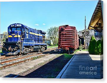 The Train Depot Canvas Print by Paul Ward