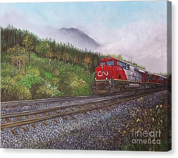 The Train West Canvas Print