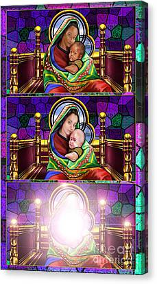 The Transfiguration Of Madonna And Child  Canvas Print by Reggie Duffie