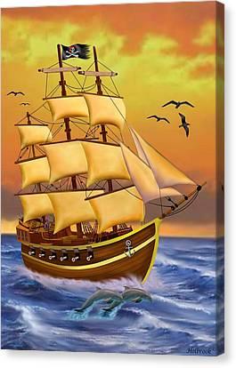 The Treasure Hunter Canvas Print by Glenn Holbrook