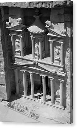 The Treasury At Petra Canvas Print by Paul Cowan