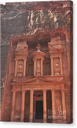 The Treasury In Petra Jordan Canvas Print by Beth Wolff