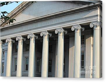 The Treasury Department Canvas Print by Cynthia Snyder