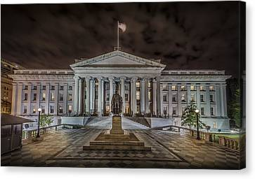 The Treasury Department Canvas Print by David Morefield