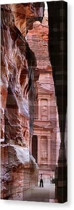 The Treasury Of Petra Jordan Canvas Print
