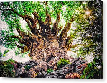 Canvas Print featuring the photograph The Tree by Joshua Minso