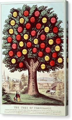 The Tree Of Temperance, 1872 Colour Litho Canvas Print