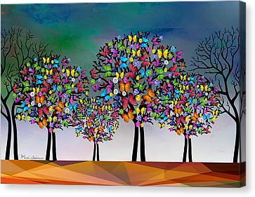 Corrected Canvas Print - The Trees  by Mark Ashkenazi